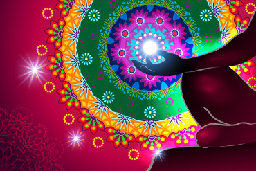Particularly chakra meditation and light-transparency blending effects and gradient mesh-EPS 10.